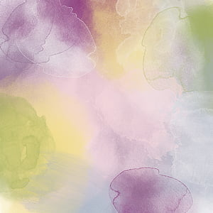white, yellow, and purple abstract painting