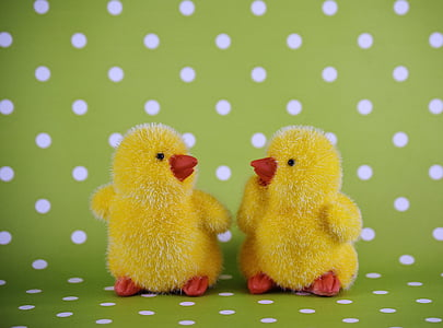 two yellow chicks plush toys