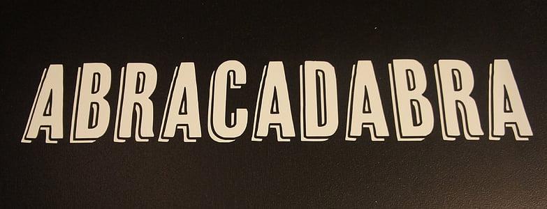 Abracadabra text illustration