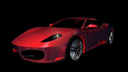 red Ferrari F430 coupe