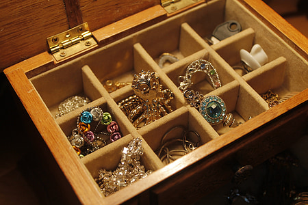 assorted accessories in box