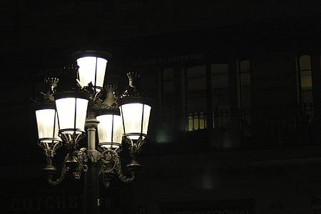 lighted up-light chandelier