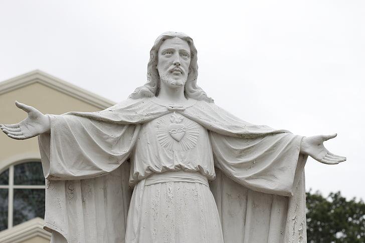 Jesus Christ concrete statue