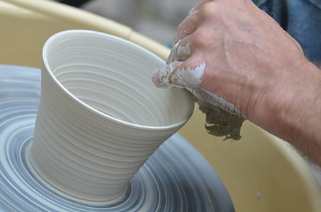 person clay molding
