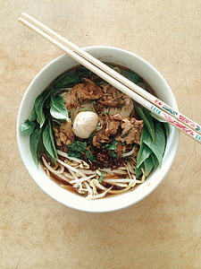 noodles in white bowl