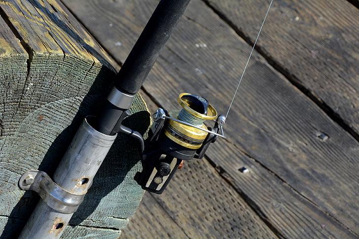 black fishing rod