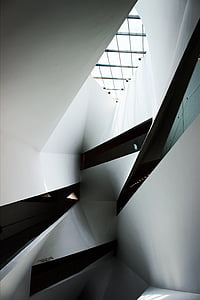 white and black architectural museum