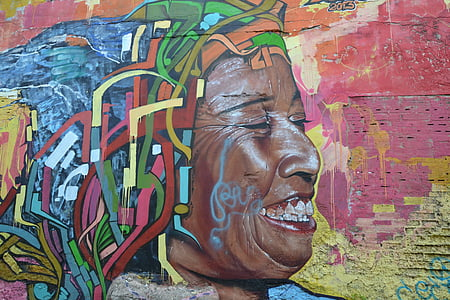 wall art of a woman