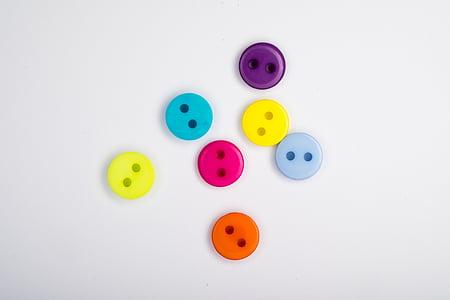 assorted-color clothes button lot