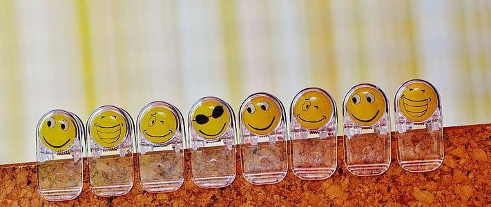 emoji plastic clips