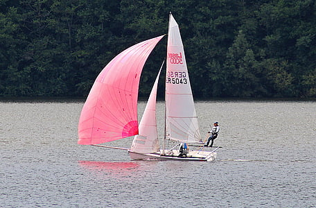 person on sailing boat