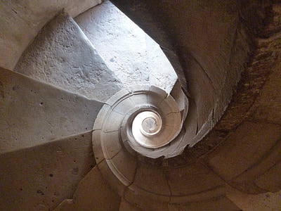 grey spiral staircase