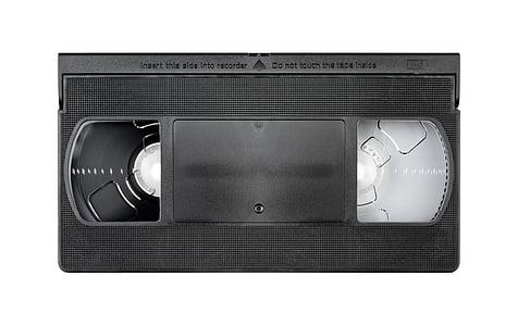 black VHS cassette