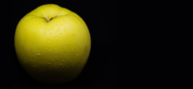 Pears in black background