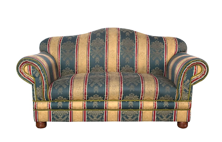beige and teal couch