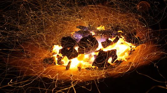 steel wool photo of bonfire