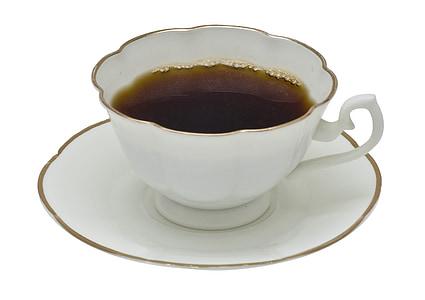 tea on white ceramic teacup and saucer