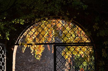 half closed gate