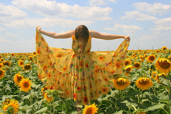 Royalty free photo girl wearing yellow dress pickpik girl wearing yellow dress mightylinksfo