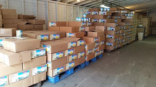 brown cardboard box lot