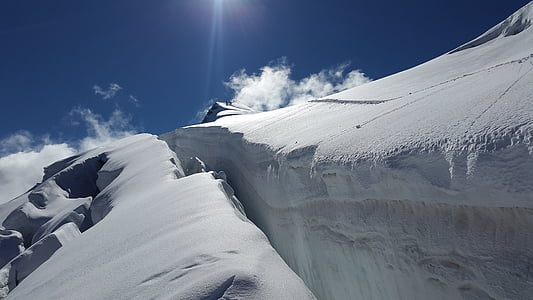 landscape photo of snow mountain