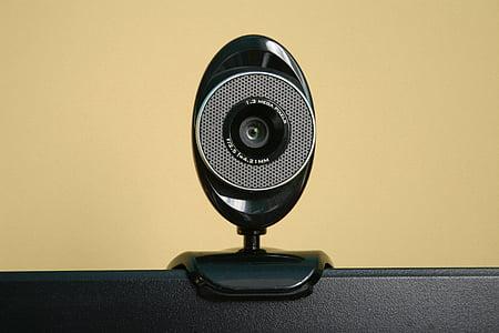 black and gray webcam