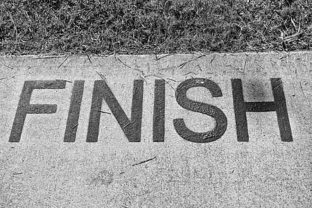 finish text