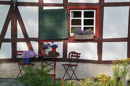fachwerkhaus, architecture, truss, building, facade, home