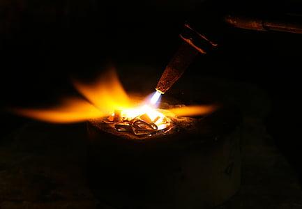 torch burning