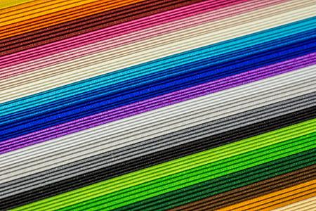 multi-colored striped textile