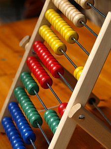 brown and multicolored abacus