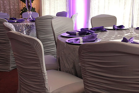 photograph of formal table dining arrangement