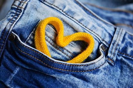 heart shape yellow strap ornament