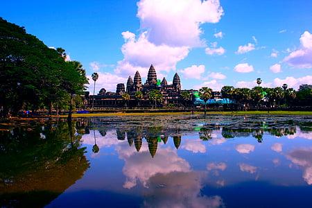 Angkor Wat in Cambodia during daytime