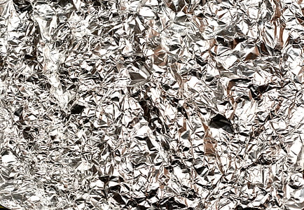gray crumpled foil