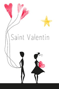 Saint Valentin graphic wallpaper