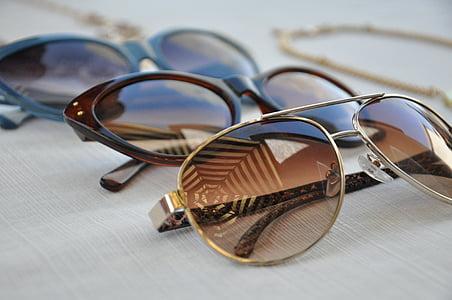 three sunglasses