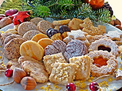 pastries on white plate