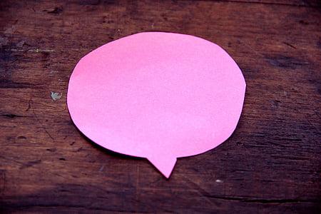 pink sticky note