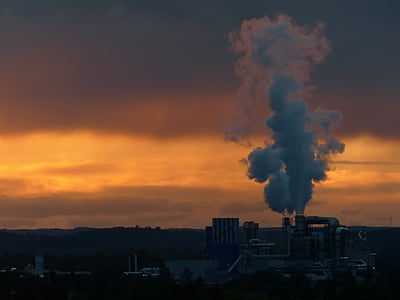 power plant emitting smoke