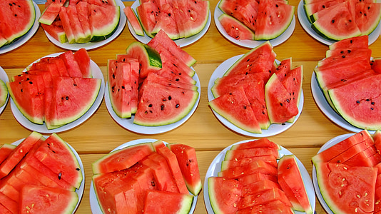 sliced watermelon fruit lot