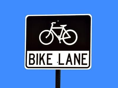 bike lane signage