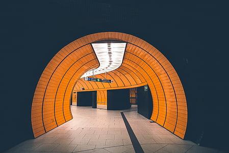 orange tunnel