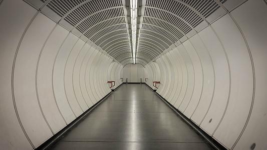 interior photo of tunnel hallway