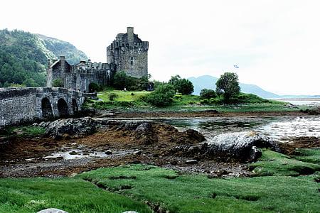ruins near body of water