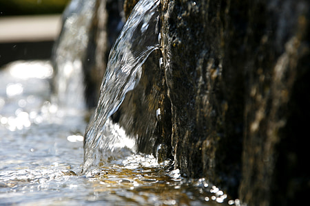 photo of water flowing
