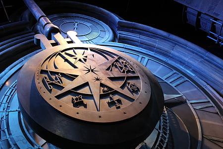 photo of brown clock
