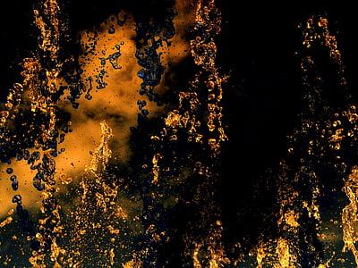 black and orange digital wallpaper