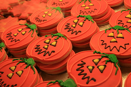 Jack O Lantern cookie lot
