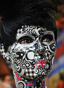 person with face paint